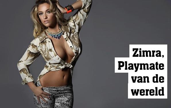 Zimra Geurts is playmate of the year 2012 van de hele wereld